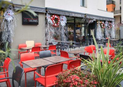 Vue extérieure à Noël - Brasserie les Tuileries