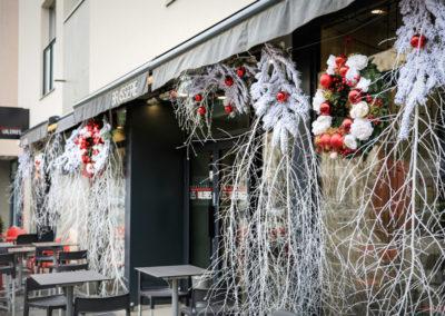 Décoration de Noël - Devanture Brasserie Les Tuileries