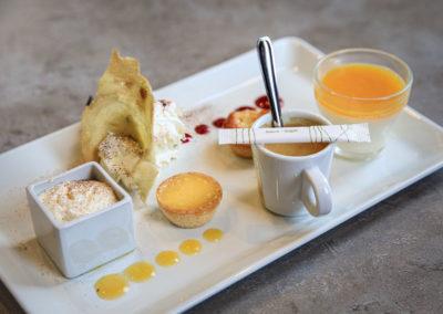 Café gourmand Apéro Tapas Spritz à la Brasserie Les Tuileries à Tassin-la-Demi-Lune